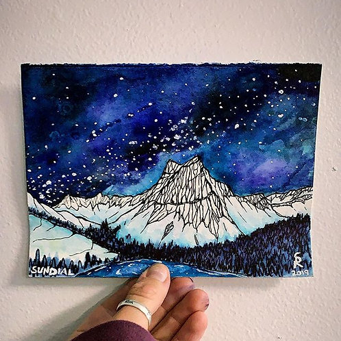 SUNDIAL PEAK ORIGINAL WATERCOLOR