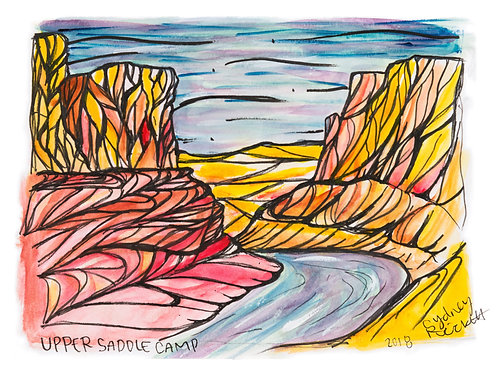 UPPER SADDLE CAMP ORIGINAL PAINTING