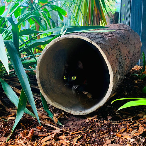 Hidden Hideaway 🌳 Large Weatherproof Indoor/Outdoor Hollow Log Hideout