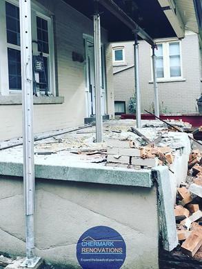 Before, Hamilton Porch Repair