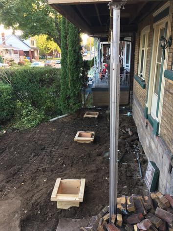 Front Porch Supports Hamilton. Rebuilding a front porch.