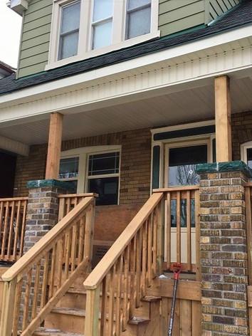 front porch rebuilding in Hamilton