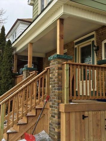 Front Porch Rebuilding Hamilton