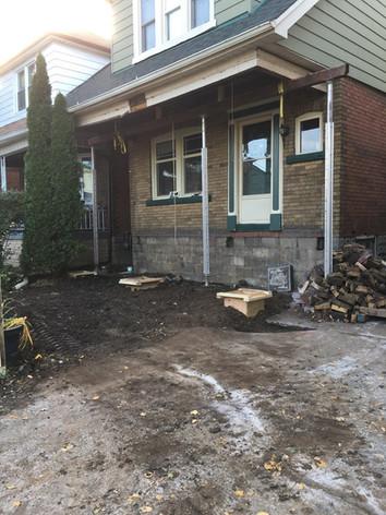 Sagging Front Porch Repair Hamilton
