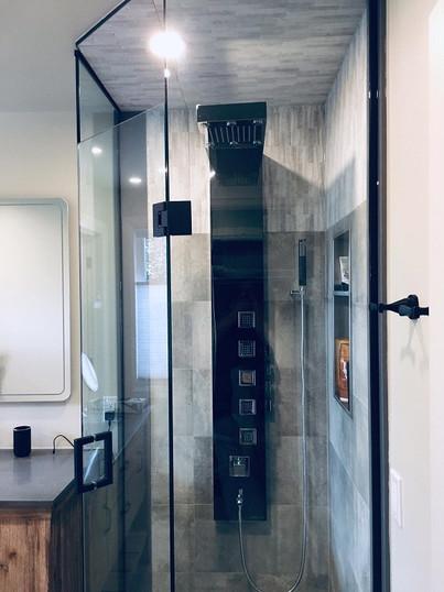 Matte Black Shower Hardware and Fixtures