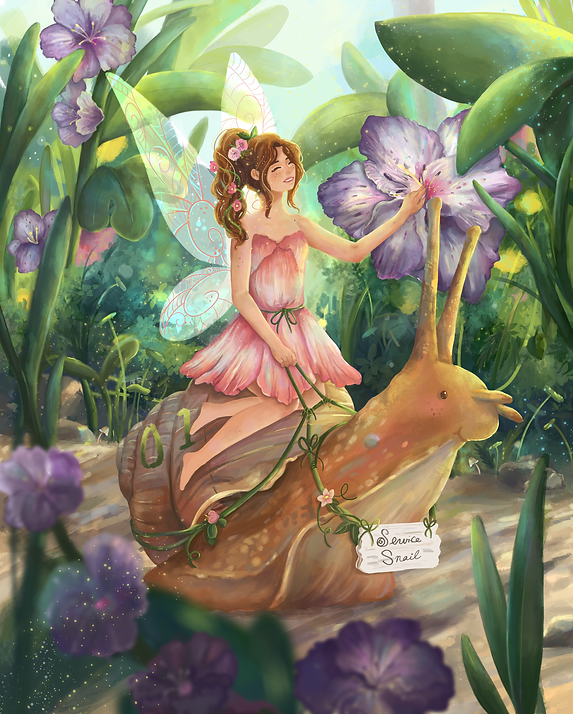 Fairy on Snail Final April 2019.png