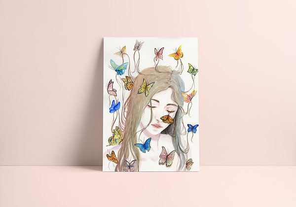 Miss Butterfly Print
