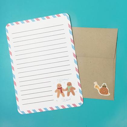 Gingerbread Stationery Set