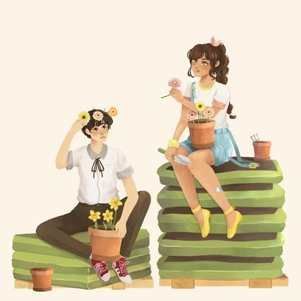 Flower Shop Friends Breaktime