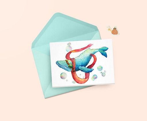 Aquatic Aviation Greeting Card