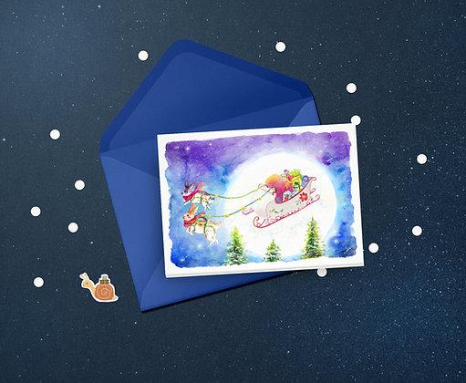Christmas Bunnies Greeting Card