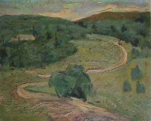 31 ''Drumul in padure''1967 c.u. 34x42cm