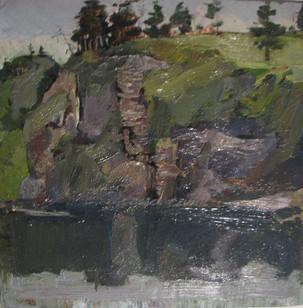 35 ''Sosni na holme''1975 c.u. 34x35cm(3