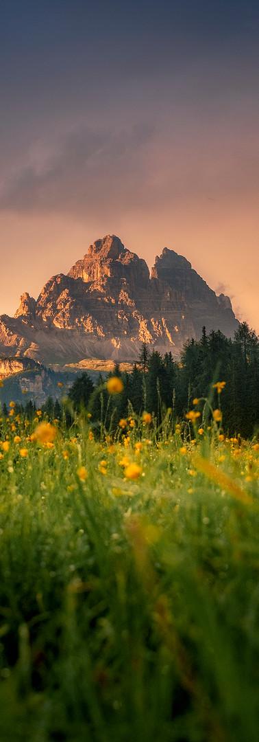 Sunset at Dolomiti