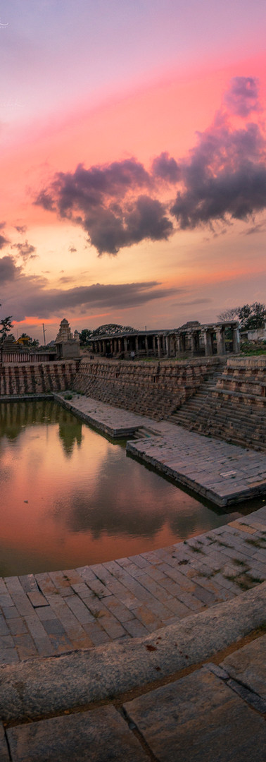 Sunset at Temple in Hampi