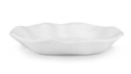 Melamine Ruffle Shallow Pasta Bowl