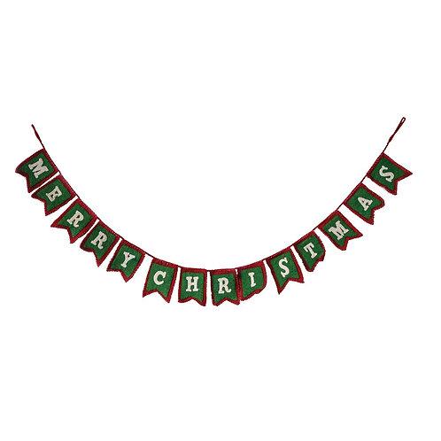 "72"" Felt Merry Christmas Garland"