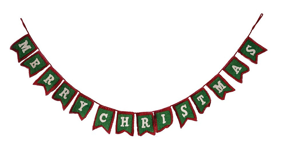 "72"" Felt Merry Christmas Garland"