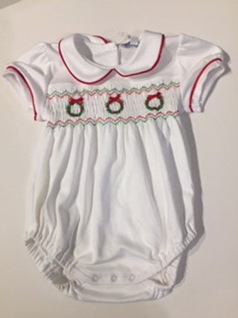 Smocked Pima Cotton Bubble for Baby Girl 6-9month