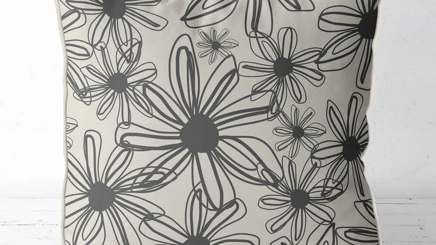 Fab & Funky Happy Flowers Pillow