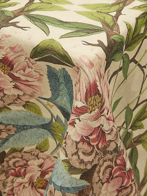 Avenida Home Peonies 60x120 linen tablecloth