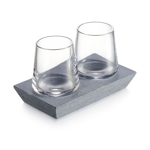 Simon Pearce Alpine Whiskey Glass Set