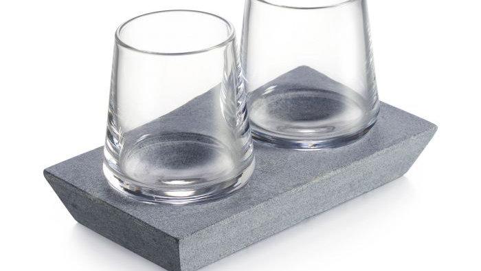 Simon Pearce Alpine Whiskey Glass Set