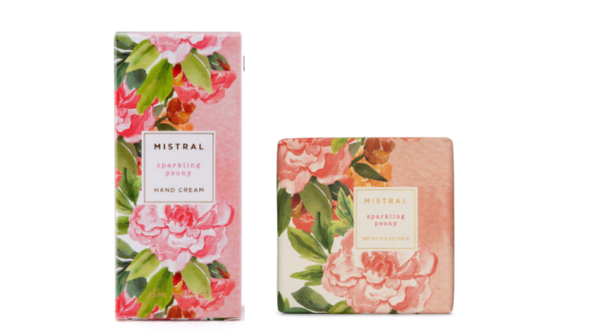 Mistral Sparkling Peony Hand Cream and Soap