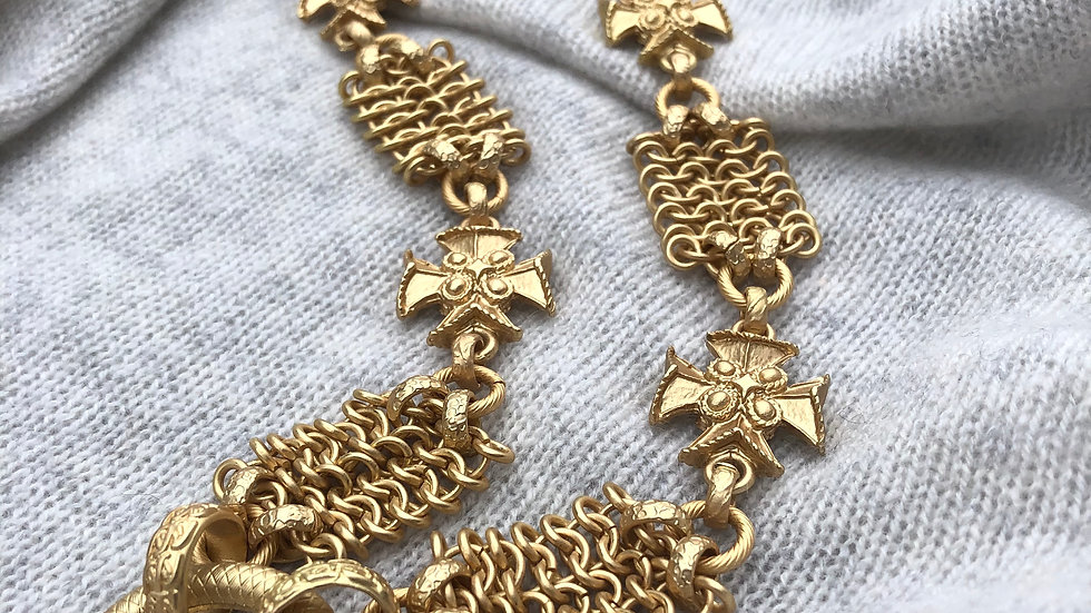 Harriet & Vee gold plated chainmaille necklace