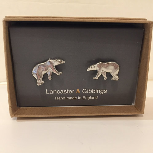 Pewter Bear Cuff Links