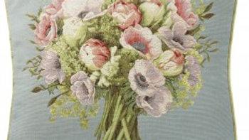 Floral Bouquet on Pale Blue