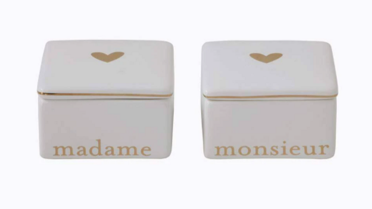 Madame and Monsiuer Ceramic Boxes