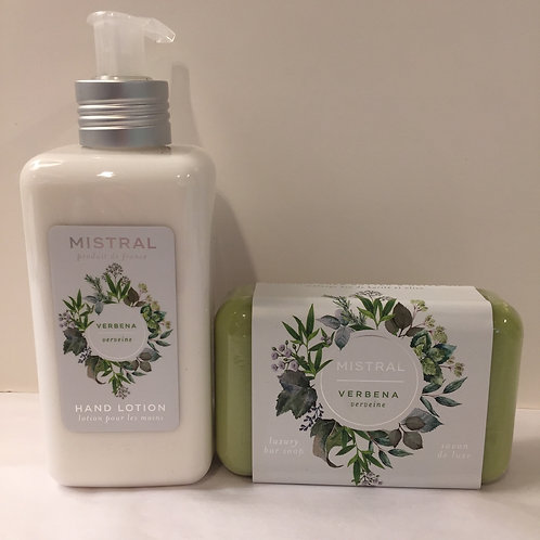 Mistral Verbena Hand Lotion & Verbena Bar Soap