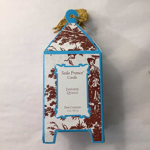 Seda France Japanese Quince Classic Toile Mini Pagoda Candle