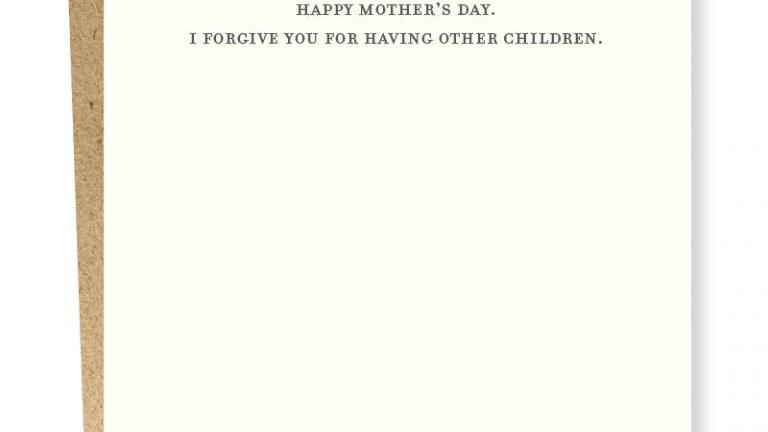 Sapling Letterpress Mother's Day Card