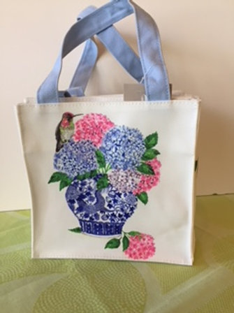 Canvas Floral Tote or Lunch Bag