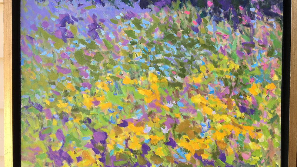 Secret Garden, Blooms, by Priscilla Long Whitlock 18x24