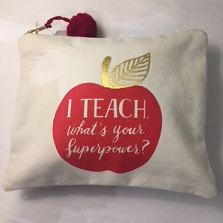 Canvas Pouch for Your Favorite Teacher
