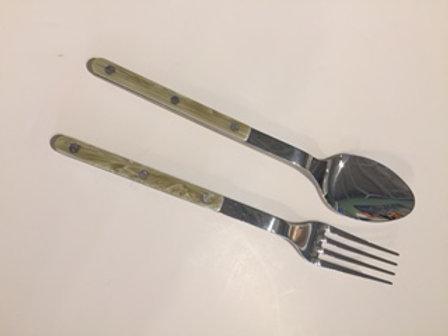Sabre Bistrot Salad Servers in Horn