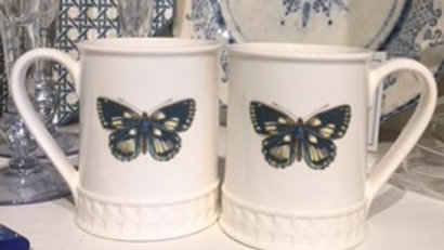 Pair of Portmeirion Butterfly Mugs