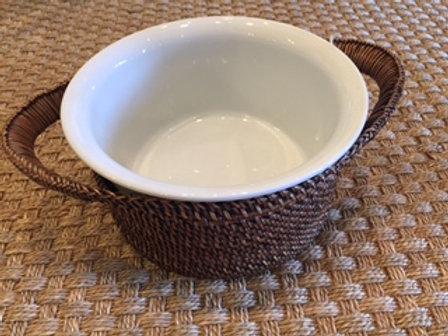 Calaisio basket with Pillivuyt souffle insert.