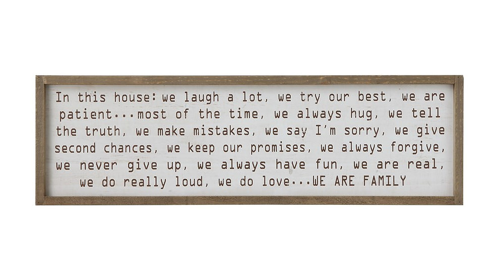 """""""In this House...""""Wood Framed Wall Decoration"""