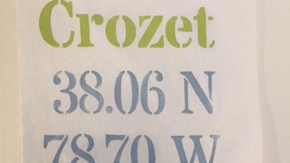 Crozet Longitude/Latitude Flour Sack Towel