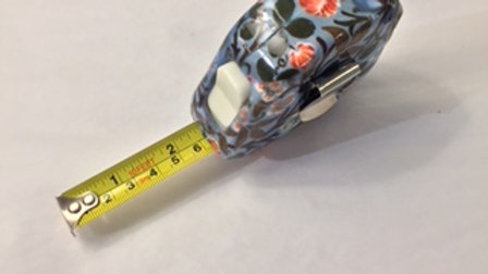 V&A Blue Floral Pattern Measuring Tape