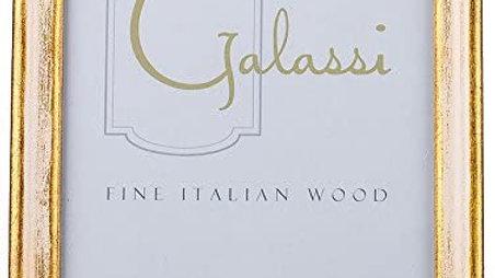 Galassi Gold w/ White 5x7 frame