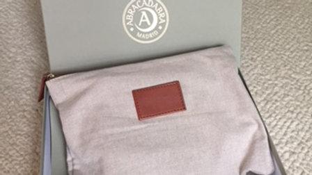 4 Piece Linen w/ Leather Trim Travel Set