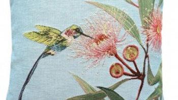Green Hummingbird with Eucalyptus