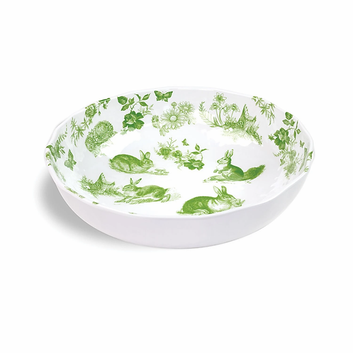 Bunny Toile Melamine Serving Bowl