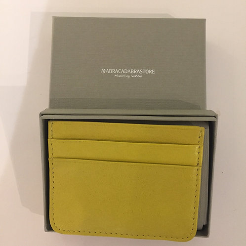Slim Leather Wallet Lime Green