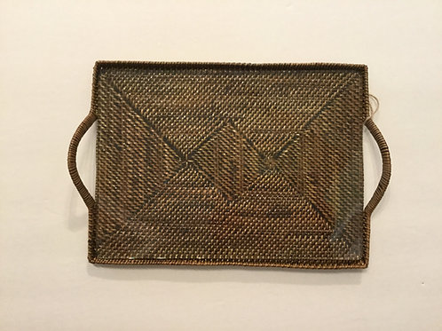 Calaisio rectangular tray w/ glass - small